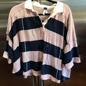 FREE PEOPLE | striped rugby shirt